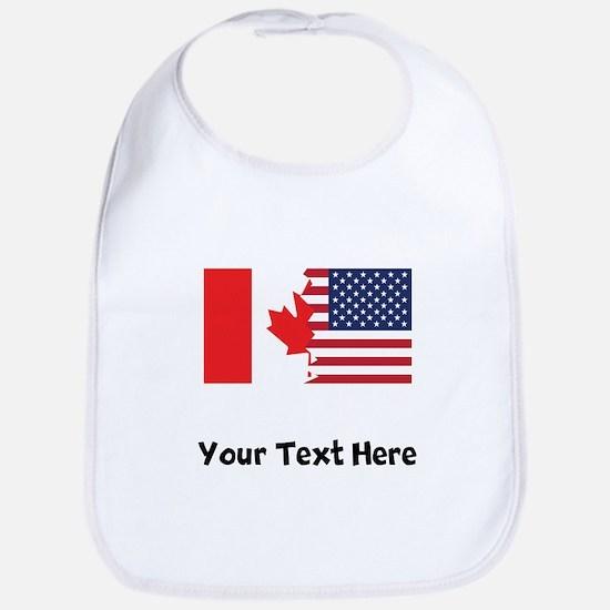 Canadian American Flag Bib