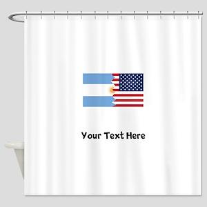 Argentinian American Flag Shower Curtain