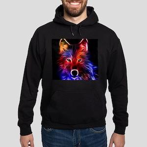 Neon Wolf Hoodie (dark)
