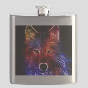 Neon Wolf Flask