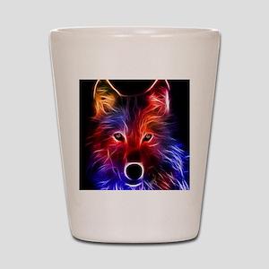 Neon Wolf Shot Glass