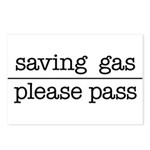 SAVING GAS - PLEASE PASS Postcards (Package of 8)
