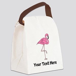 Flamingo On One Leg (Custom) Canvas Lunch Bag