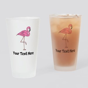 Flamingo On One Leg (Custom) Drinking Glass