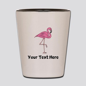 Flamingo On One Leg (Custom) Shot Glass