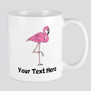 Flamingo On One Leg (Custom) Mugs