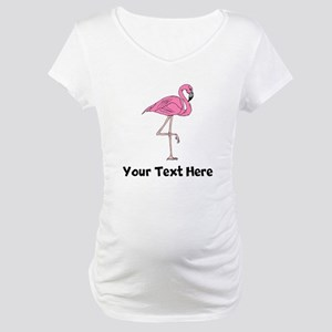 Flamingo On One Leg (Custom) Maternity T-Shirt
