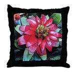Red bromeliad flower - Throw Pillow