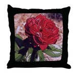 Red Rose Art - Throw Pillow