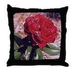 Red Rose Art - Throw Pillow