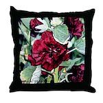 Rich red flower #1 - Throw Pillow