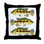 Banded Jewel Cichlid Throw Pillow
