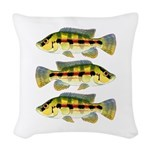 Banded Jewel Cichlid Woven Throw Pillow