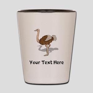 Brown Ostrich (Custom) Shot Glass