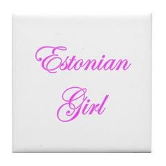 Estonian Girl Tile Coaster
