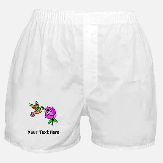 Hummingbird And Flower (Custom) Boxer Shorts