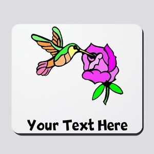 Hummingbird And Flower (Custom) Mousepad