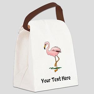 Pink Flamingo (Custom) Canvas Lunch Bag