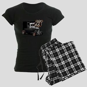 1932 Ford on Route 66 Women's Dark Pajamas