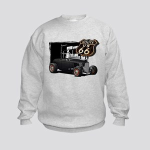 1932 Ford on Route 66 Kids Sweatshirt