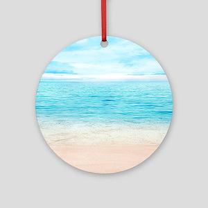 White Sand Beach Round Ornament