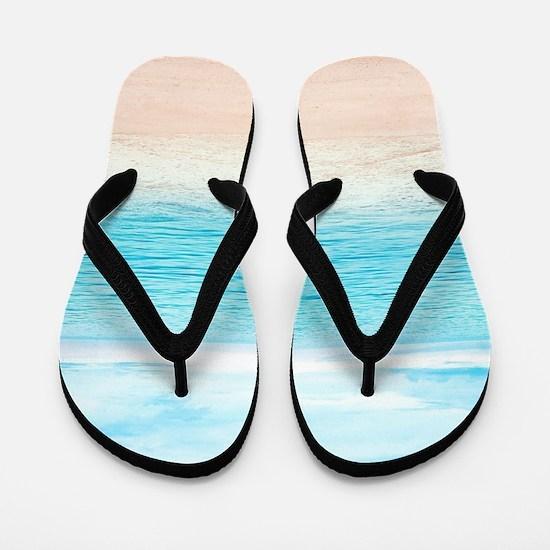 White Sand Beach Flip Flops