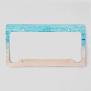 White Sand Beach License Plate Holder