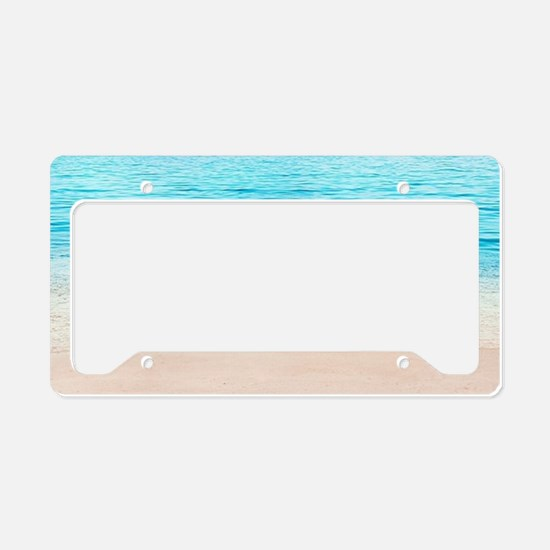 White Sand Beach License Plate Holder