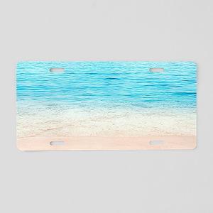 White Sand Beach Aluminum License Plate