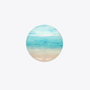 White Sand Beach Mini Button