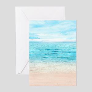White Sand Beach Greeting Cards