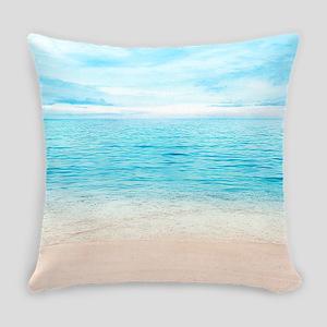 White Sand Beach Everyday Pillow