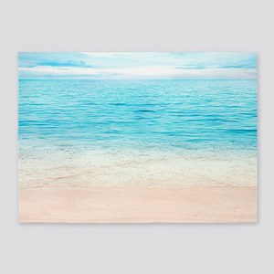 White Sand Beach 5'x7'Area Rug