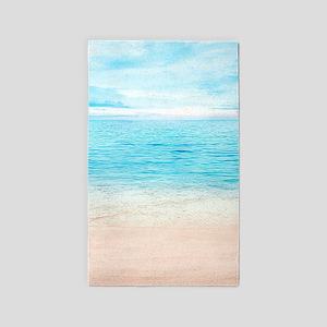 White Sand Beach Area Rug
