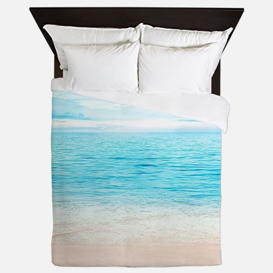 White Sand Beach Queen Duvet