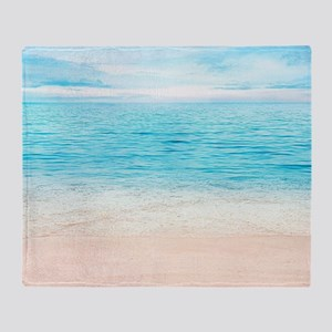 White Sand Beach Throw Blanket
