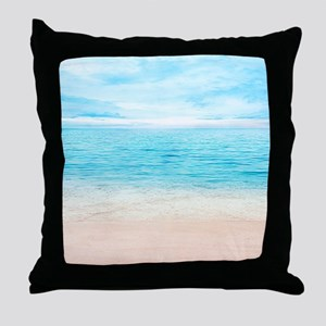 White Sand Beach Throw Pillow