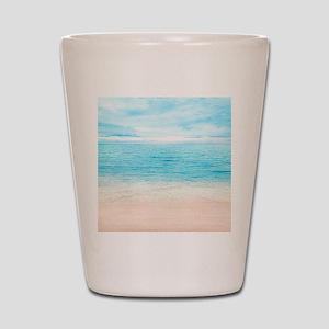 White Sand Beach Shot Glass
