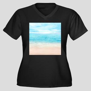 White Sand Beach Plus Size T-Shirt