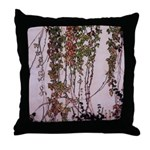 Vine-covered wall - Throw Pillow