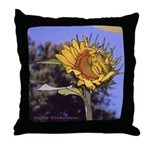 Flirting Sunflower - Throw Pillow