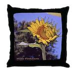 Flirting Sunflower - Throw Pillow