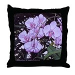 Pink phalaenopsis Throw Pillow