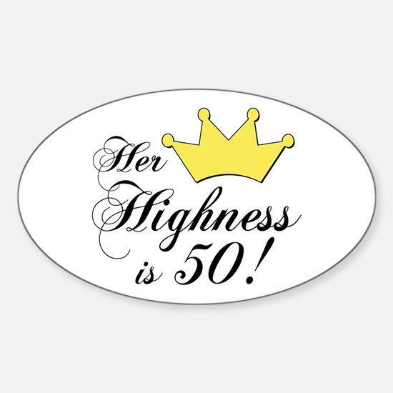 50th birthday gifts women Oval Decal