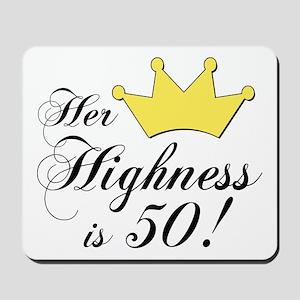 50th birthday gifts women Mousepad