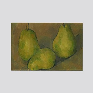 Three Pears, Cezanne Rectangle Magnet