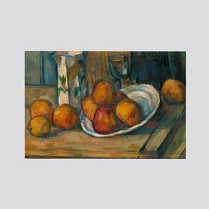 Still Life With Milk Jug, Cezanne Rectangle Magnet