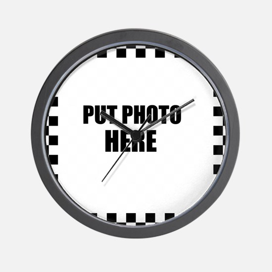 Put Photo Here Wall Clock