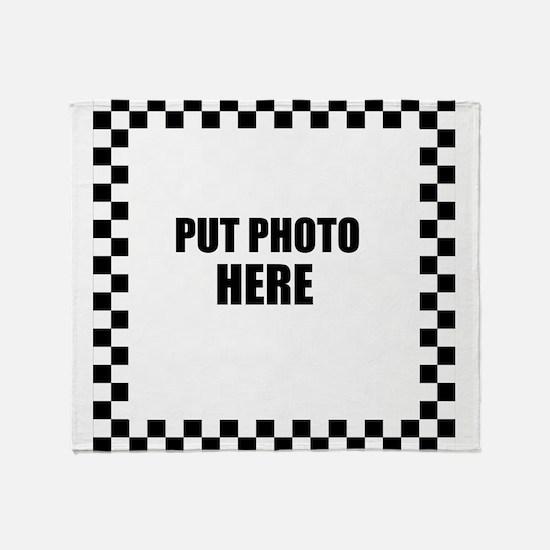 Put Photo Here Throw Blanket
