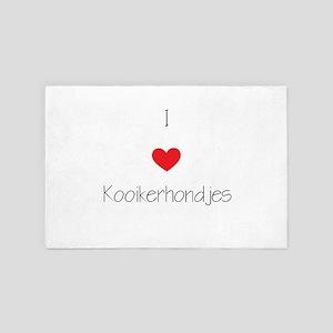 I Love Kooikerhondjes 4' X 6' Rug